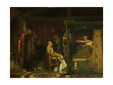Fredegund Visits Bishop Prætextatus on His Deathbed, 1864 Giclee Print by Lawrence Alma-Tadema