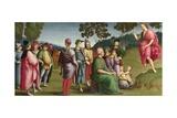 Saint John the Baptist Preaching (The Ansidei Altarpiece, San Fiorenzo, Perugi), 1505 Giclee Print by  Raphael
