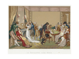 Ladies and Gentlemen Playing La Bouillotte, France, C1804-1814 Giclee Print by Jean Francois Bosio