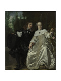 Abraham Del Court and His Wife Maria De Kaersgieter, 1654 Giclee Print by Bartholomeus Van Der Helst