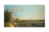 London. the Thames from Somerset House Terrace Towards the City, Ca 1751 Giclee Print by  Canaletto