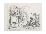 The Visit at the Death. from the Series ''Capriccios', Mid of the 18th C Giclee Print by Giambattista Tiepolo
