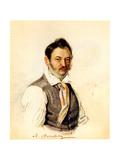Portrait of Decembrist Fonvizin Michail A. Fonvizin (1787-185), 1834 Giclee Print by Nikolai Alexandrovich Bestuzhev