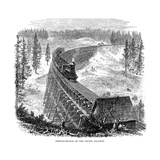 Trestle Bridge on the Union Pacific Railroad, USA, 1876 Giclee Print