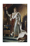 Portrait of Emperor Napoléon I Bonaparte (1769-182) in His Coronation Robes, Ca 1804 Giclee Print by François Pascal Simon Gérard