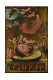 The Head of Saint John the Baptist, with Mourning Angels and Putti, Early 16th C Giclee Print by Jan Mostaert