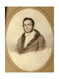 Portrait of Yakov Nikolayevich Kalinovsky (1814-190), 1836 Giclee Print by Mikhail Prokopyevich Vishnevitsky