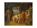 Priam Tearfully Supplicates Achilles, Begging for Hector's Body, 1824 Giclee Print by Alexander Andreyevich Ivanov