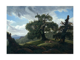 Memory of a Wooded Island in the Baltic Sea (Oak Trees by the Se), 1835 Giclee Print by Carl Gustav Carus