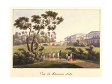View of the Cameron Gallery in the Park in Tsarskoye Selo, before 1817 Giclee Print by Andrei Yefimovich Martynov