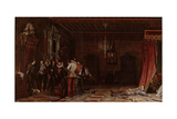 The Assassination of the Duke of Guise at the Château of Blois in 1588, 1834 Giclee Print