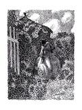 At the Garden Pavilion, Symbolist Magazine Vesy (The Balanc), 1905 Giclee Print by Viktor Elpidiforovich Borisov-musatov