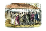 Japanese Officers Going to Pay Visits of Congratulation, Japan, 1865 Giclee Print