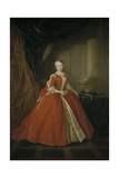 Portrait of the Princess Maria Amalia of Saxony in Polish Costume, 1738 Giclee Print by Louis de Silvestre