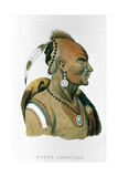 Sewessissing, Chief of the Iowa Indians (North American Plains Indian), 1837 Giclee Print