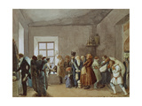 Police Commissary's Reception Room the Night before a Holiday, 1837 Giclee Print by Pavel Andreyevich Fedotov