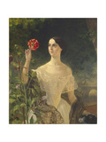 Portrait of Countess Sophia Bobrinskaya, Née Samoylova (1797-186), 1849 Giclee Print by Karl Pavlovich Briullov