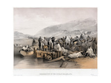 The Embarkation of the Sick at Balaklava, 1855 Giclee Print by William Simpson