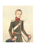 Portrait of the Crown Prince Alexander Nikolayevich (1818-188), 1828 Giclee Print by Pyotr Fyodorovich Sokolov