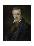 Portrait of the Painter Pyotr Fyodorovich Sokolov (1791-184), 1833 Giclee Print by Vasili Andreyevich Tropinin