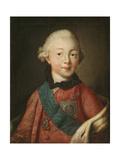 Portrait of Grand Duke Pavel Petrovich (1754-180), 1765 Giclee Print by Alexei Petrovich Antropov