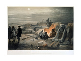 A Quiet Night in the Batteries, 1855 Giclee Print by William Simpson