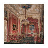 Interiors of the Winter Palace, the Boudoir of Empress Maria Alexandrovna, 1861 Giclee Print by Eduard Hau