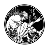 Merlin. Illustration to the Book Le Morte D'Arthur by Sir Thomas Malory, 1893-1894 Giclee Print