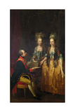 Emperor Joseph II at the Piano with His Sisters Maria Anna and Maria Elisabeth Giclee Print by Josef Hauzinger