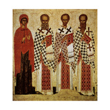 Saints Paraskeve, Gregory the Theologian, John Chrysostom and Basil the Great, Early 15th Century Giclee Print