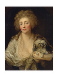 Portrait of Anna Oraczewska with the Dog, 1789 Giclée-tryk af Anton Graff