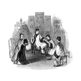 Chinese Maidens Weeping with a Bride, 1847 Giclee Print by  Evans