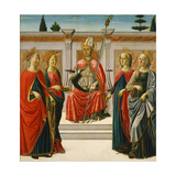 Saint Nicholas and Saints Catherine, Lucy, Margaret and Apollonia Giclee Print by Francesco Botticini