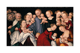 Christ Blessing the Children, C.1540 Giclee Print by Lucas Cranach the Elder