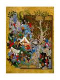 Folio from Haft Awrang (Seven Throne) by Jami, 1539-1543 Digitálně vytištěná reprodukce