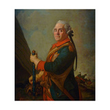 Portrait of Maurice De Saxe, Marshal of France, 18th Century Giclee Print by Jean-Étienne Liotard