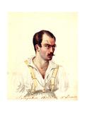 Portrait of Decembrist Alexander Ivanovich Yakubovich (1792-184), 1831 Giclee Print by Nikolai Alexandrovich Bestuzhev