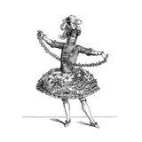 Ballet Costume Giclee Print by  Martin