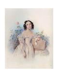 Portrait of Princess Helen Biron Von Curland, Née Meshcherskaya (1818-184), 1830S Giclee Print by Pyotr Fyodorovich Sokolov