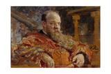 Portrait of Pavel Viktorovich Delarov (1851-191), 1910 Giclee Print by Ilya Yefimovich Repin