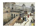 Moscow in the 17th Century. Bookshops on the Christ the Saviour Bridge, 1902 Giclee Print by Appolinari Mikhaylovich Vasnetsov