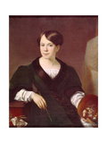 Portrait of the Painter Lyubov Borozdna-Stromilova (1813-189), 1831 Giclee Print by Vasili Andreyevich Tropinin