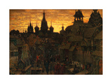 Ancient Moskow. Street in Kitay-Gorod in the 17 Century, 1900 Giclee Print by Appolinari Mikhaylovich Vasnetsov