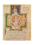 The Wheel of Fortune (Rota Fortuna) from Carmina Burana, Ca 1230 Giclee Print