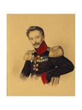 Portrait of Prince Fyodor Fyodorovich Gagarin (1786-186), 1830s Giclee Print by Carl Von Hampeln