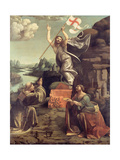 The Resurrection of Christ with Saints Leonard of Noblac and Lucia, Ca 1491 Giclee Print by Giovanni Antonio Boltraffio
