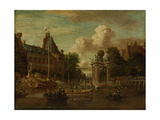 The Arrival of the Embassy of Muscovy in Amsterdam on August 1697 Giclee Print by Abraham Storck