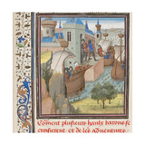 Start to the Fourth Crusade, Miniature from the Historia by William of Tyre, 1460s Giclee Print