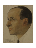 Portrait of the Regisseur Alexander Tairov (1885-195), Early 1920s Giclee Print by Nikolai Andreevich Andreev