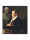 Portrait of the Poet Nikolay Gnedich (1784-183), 1839 Giclée-Druck von Mikhail Prokopyevich Vishnevitsky